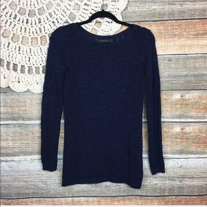 Rachel Zoe | Karla Open Knit Navy Blue Sweater